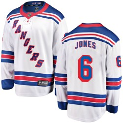 Zachary Jones New York Rangers Men's Fanatics Branded White Breakaway Away Jersey