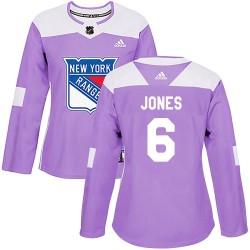 Zachary Jones New York Rangers Women's Adidas Authentic Purple Fights Cancer Practice Jersey