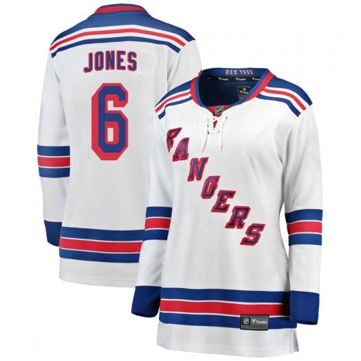 Zachary Jones New York Rangers Women's Fanatics Branded White Breakaway Away Jersey