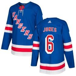 Zachary Jones New York Rangers Youth Adidas Authentic Royal Blue Home Jersey