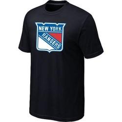 New York Rangers Men's Black Big & Tall Logo T-Shirt