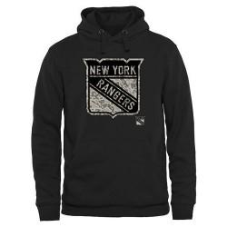 New York Rangers Men's Black Rink Warrior Pullover Hoodie