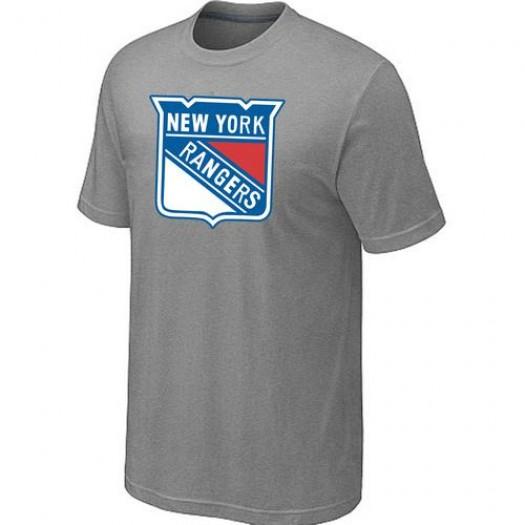 New York Rangers Men's Grey Big & Tall Logo T-Shirt