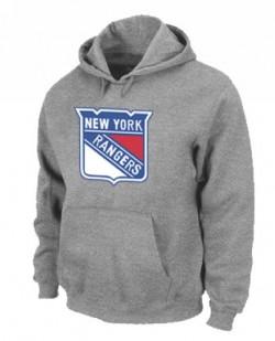 New York Rangers Men's Grey Pullover Hoodie