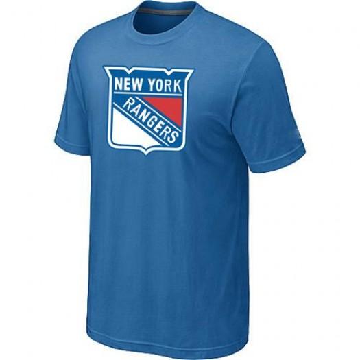 New York Rangers Men's Light Blue Big & Tall Logo T-Shirt
