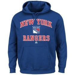 New York Rangers Men's Majestic Royal Blue Heart & Soul Hoodie