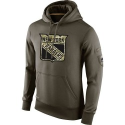 New York Rangers Men's Nike Olive Salute To Service KO Performance Hoodie