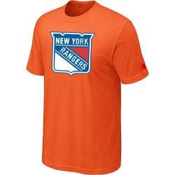 New York Rangers Men's Orange Big & Tall Logo T-Shirt