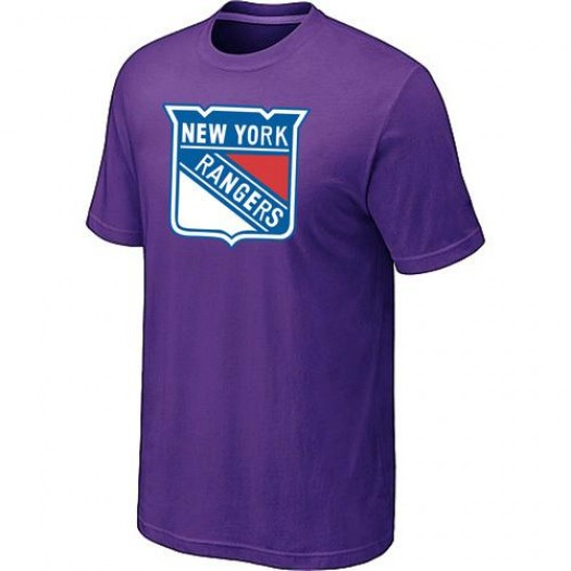 New York Rangers Men's Purple Big & Tall Logo T-Shirt