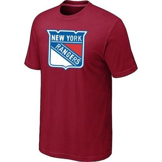 New York Rangers Men's Red Big & Tall Logo T-Shirt