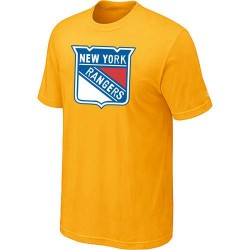 New York Rangers Men's Yellow Big & Tall Logo T-Shirt
