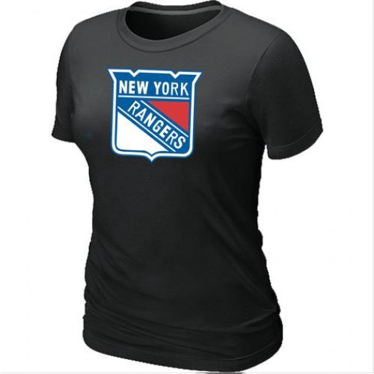 New York Rangers Women's Black Big & Tall Logo T-Shirt