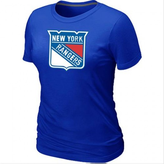 New York Rangers Women's Blue Big & Tall Logo T-Shirt