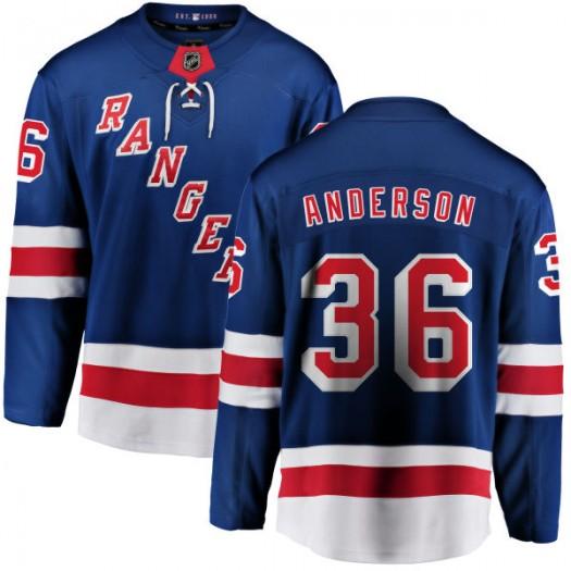 Glenn Anderson New York Rangers Youth Fanatics Branded Blue Home Breakaway Jersey