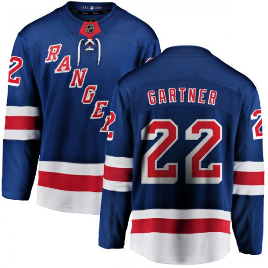 Mike Gartner New York Rangers Youth Fanatics Branded Blue Home Breakaway Jersey