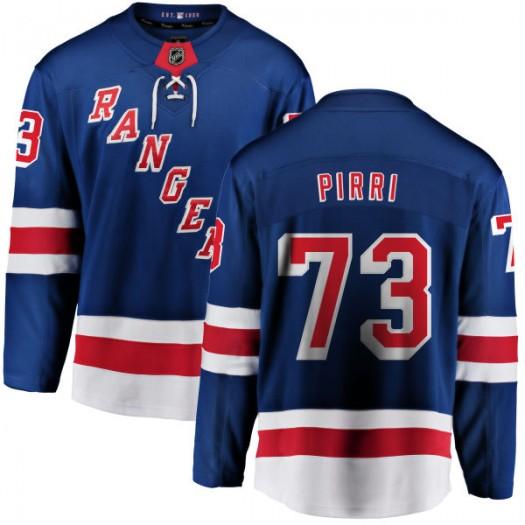 Brandon Pirri New York Rangers Men's Fanatics Branded Blue Home Breakaway Jersey