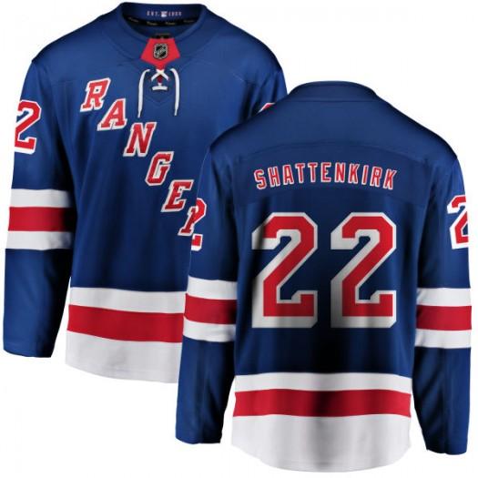 Kevin Shattenkirk New York Rangers Men's Fanatics Branded Blue Home Breakaway Jersey