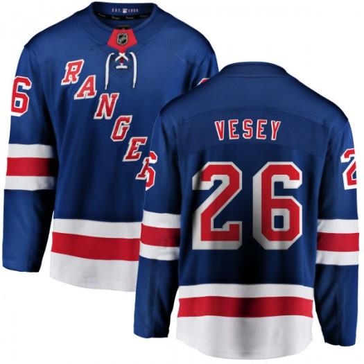Jimmy Vesey New York Rangers Men's Fanatics Branded Blue Home Breakaway Jersey