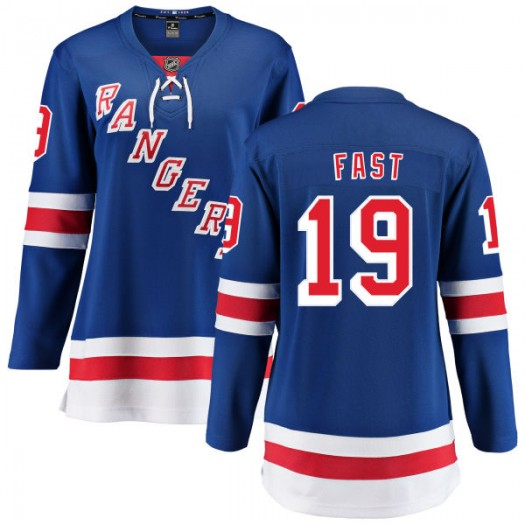 Jesper Fast New York Rangers Women's Fanatics Branded Blue Home Breakaway Jersey