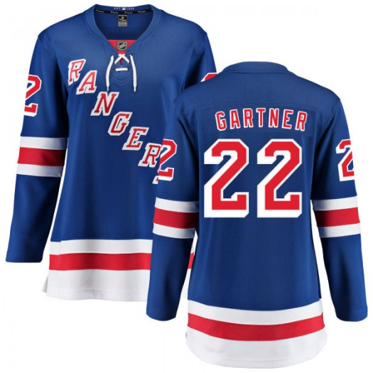 Mike Gartner New York Rangers Women's Fanatics Branded Blue Home Breakaway Jersey