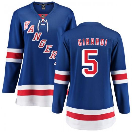 Dan Girardi New York Rangers Women's Fanatics Branded Blue Home Breakaway Jersey