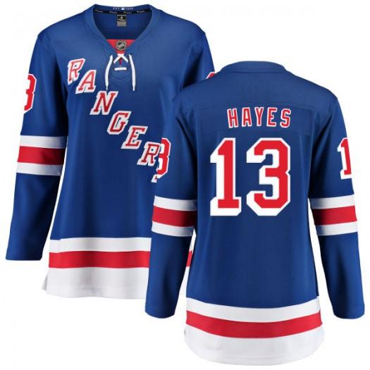 Kevin Hayes New York Rangers Women's Fanatics Branded Blue Home Breakaway Jersey