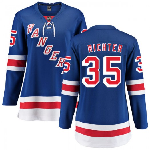 Mike Richter New York Rangers Women's Fanatics Branded Blue Home Breakaway Jersey