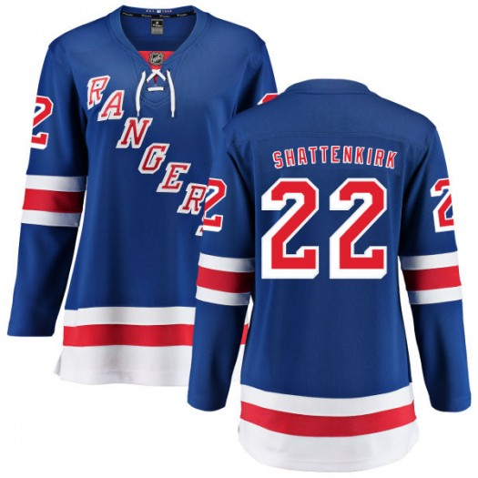 Kevin Shattenkirk New York Rangers Women's Fanatics Branded Blue Home Breakaway Jersey