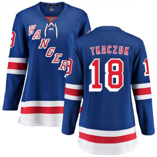 Walt Tkaczuk New York Rangers Women's Fanatics Branded Blue Home Breakaway Jersey