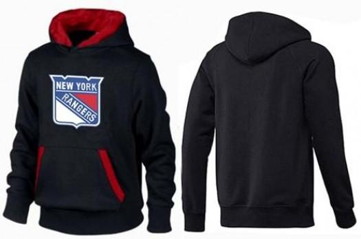 New York Rangers Men's Black/Red Big & Tall Logo Pullover Hoodie