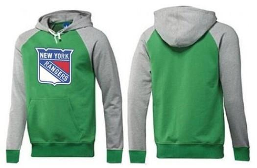 New York Rangers Men's Green Big & Tall Logo Pullover Hoodie/Grey