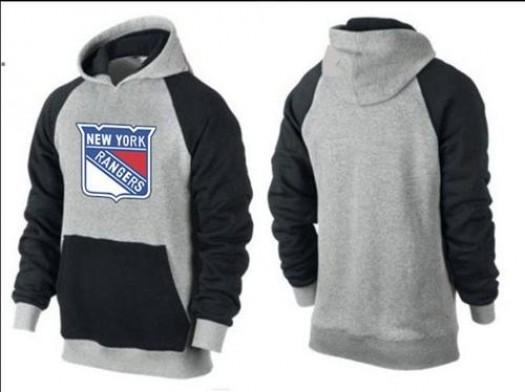 New York Rangers Men's Black Big & Tall Logo Pullover HoodieGrey/