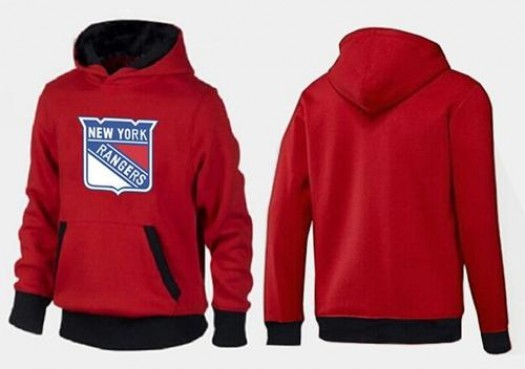 New York Rangers Men's Red/Black Big & Tall Logo Pullover Hoodie