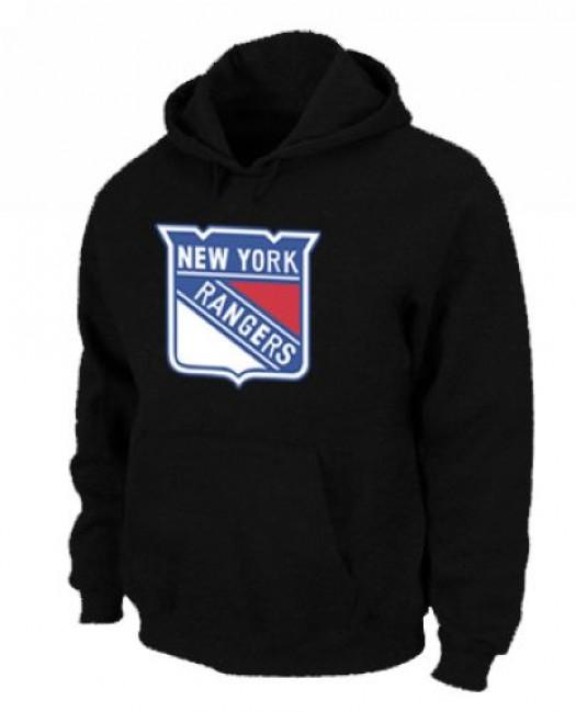 New York Rangers Men's Black Pullover Hoodie