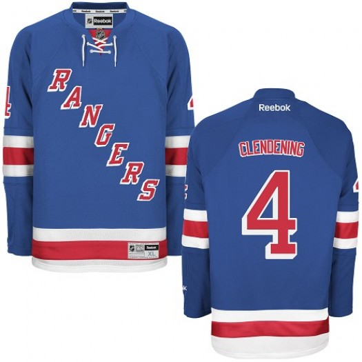 Adam Clendening New York Rangers Men's Reebok Authentic Royal Blue Home Jersey