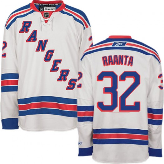 Antti Raanta New York Rangers Men's Reebok Authentic White Away Jersey