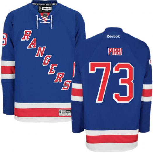 Brandon Pirri New York Rangers Men's Reebok Authentic Royal Blue Home Jersey