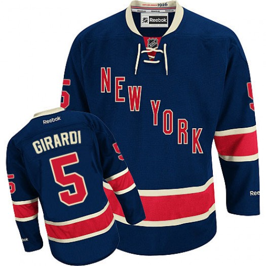 Dan Girardi New York Rangers Men's Reebok Authentic Navy Blue Third Jersey