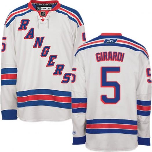 Dan Girardi New York Rangers Men's Reebok Authentic White Away Jersey