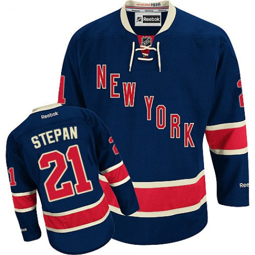 Derek Stepan New York Rangers Men's Reebok Authentic Navy Blue Third Jersey