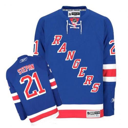Derek Stepan New York Rangers Men's Reebok Authentic Royal Blue Home Jersey