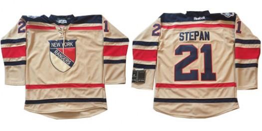 Derek Stepan New York Rangers Men's Reebok Premier Cream 2012 Winter Classic Jersey