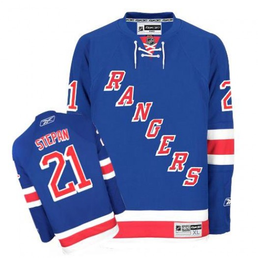 Derek Stepan New York Rangers Men's Reebok Premier Royal Blue Home Jersey