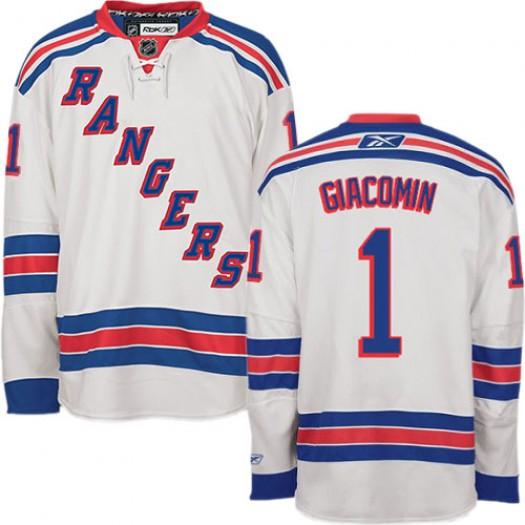 Eddie Giacomin New York Rangers Men's Reebok Premier White Away Jersey