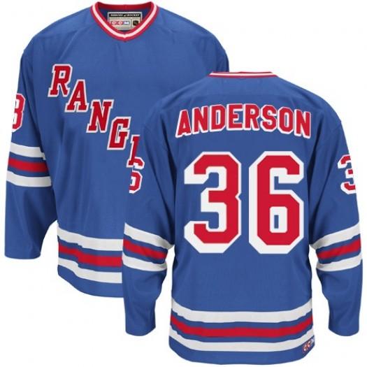 Glenn Anderson New York Rangers Men's CCM Authentic Royal Blue Heroes of Hockey Alumni Throwback Jersey
