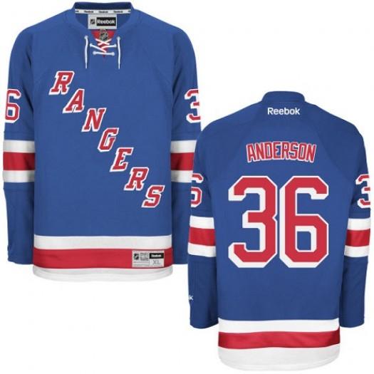 Glenn Anderson New York Rangers Men's Reebok Authentic Royal Blue Home Jersey