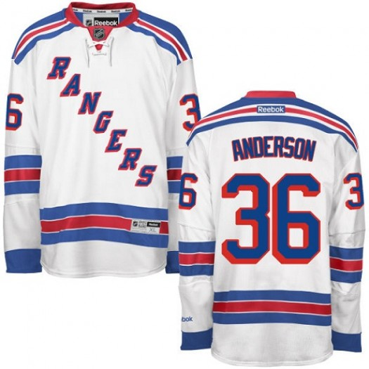 Glenn Anderson New York Rangers Men's Reebok Authentic White Away Jersey
