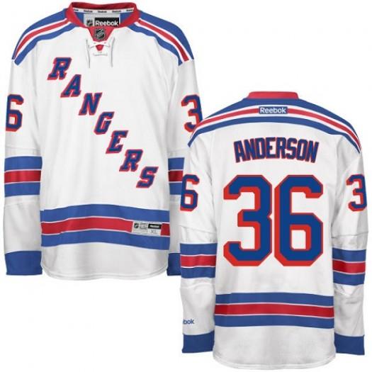 Glenn Anderson New York Rangers Men's Reebok Premier White Away Jersey