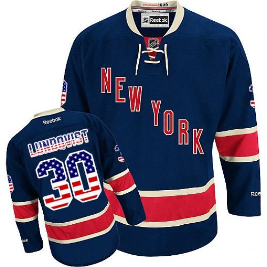 Henrik Lundqvist New York Rangers Men's Reebok Authentic Navy Blue USA Flag Fashion Jersey