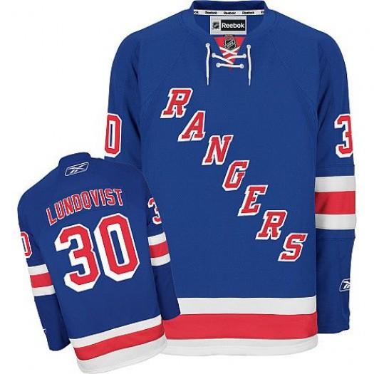 Henrik Lundqvist New York Rangers Men's Reebok Authentic Royal Blue Home Jersey